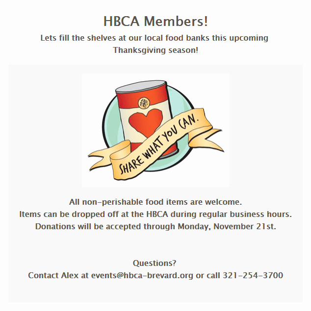 Canned Food Drive Flyer Fresh Thanksgiving Canned Food Drive at Hbca