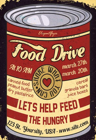 Canned Food Drive Flyer Inspirational Food Drive Flyer