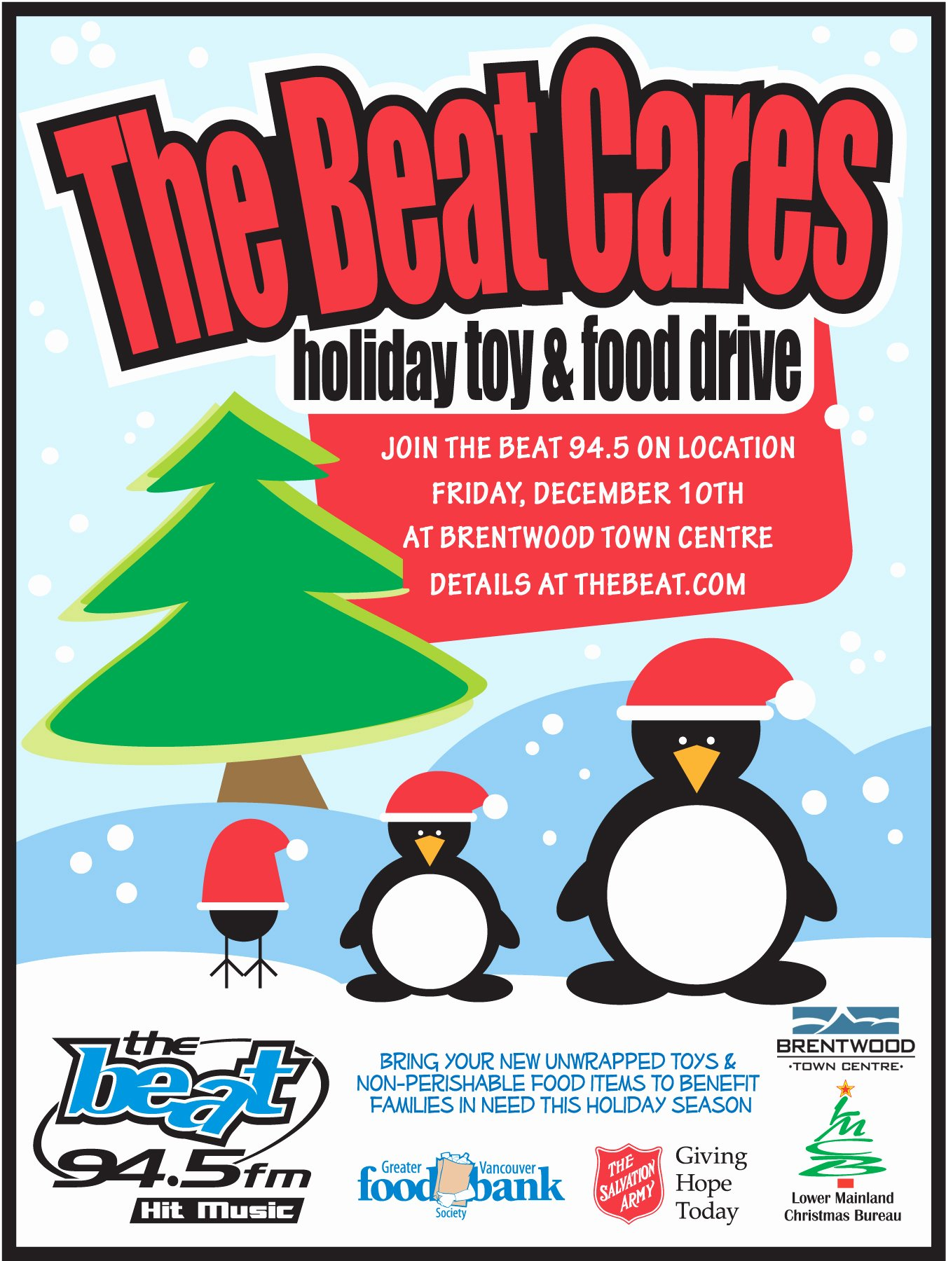 Canned Food Drive Flyer Inspirational the Beat Cares Holiday toy and Food Drive British Columbia Division