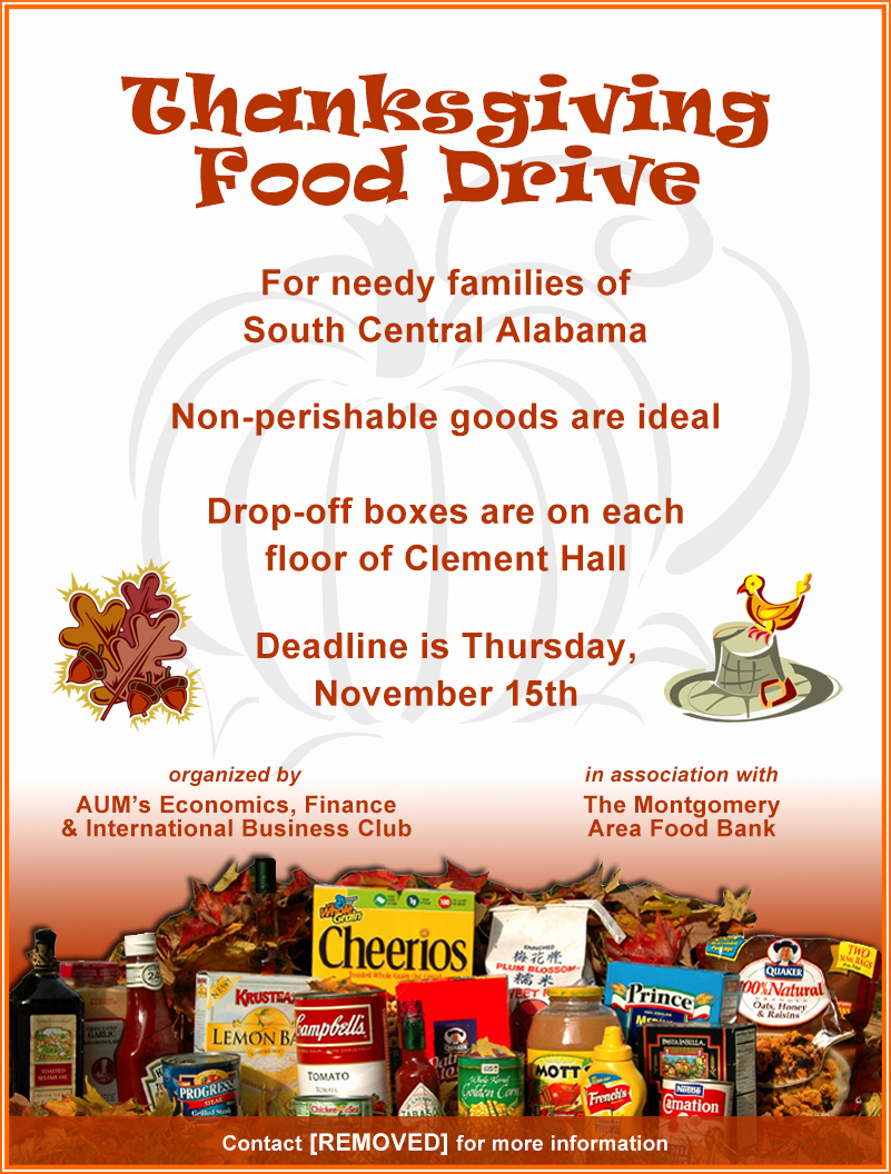 Canned Food Drive Flyer Template Beautiful Thanksgiving Food Drive Flyer Template – Festival Collections