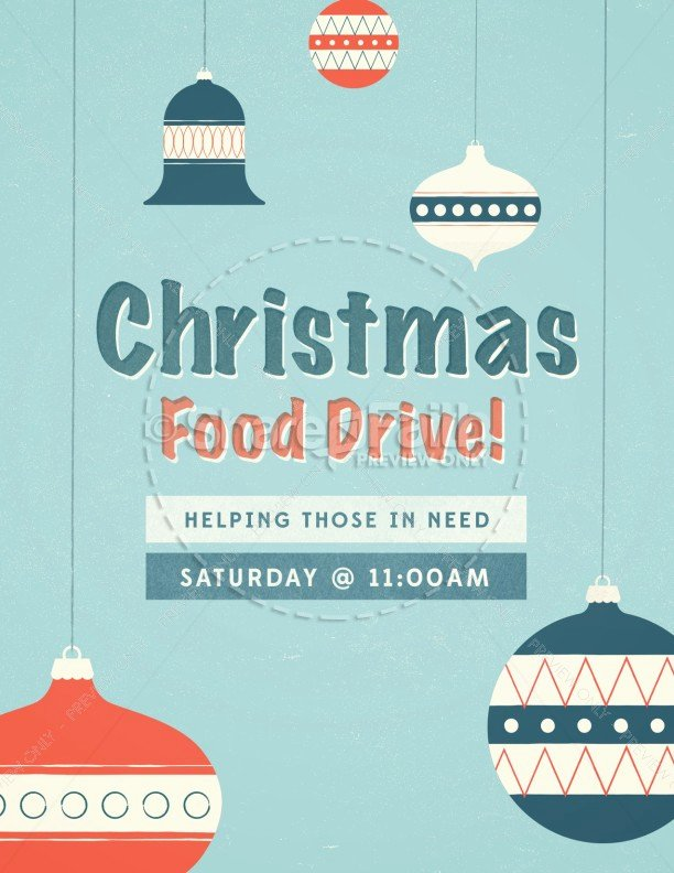 Canned Food Drive Flyer Template Elegant Christmas Food Drive Ministry Flyer