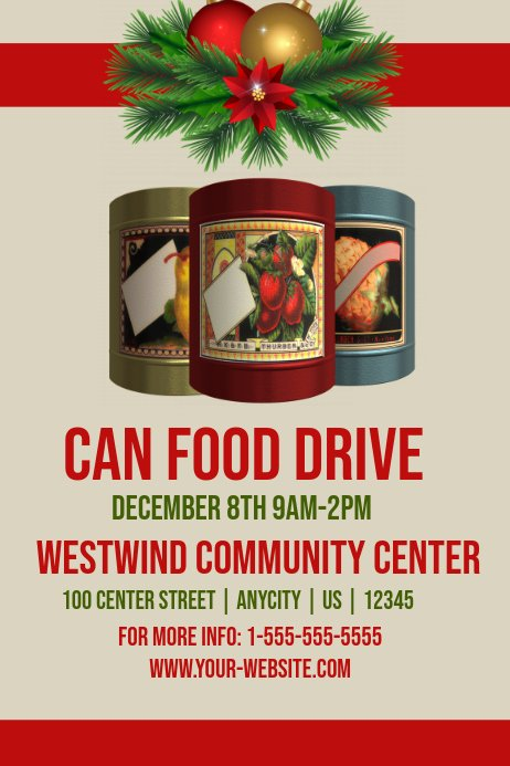 Canned Food Drive Flyer Template Elegant Cn Food Drive Template
