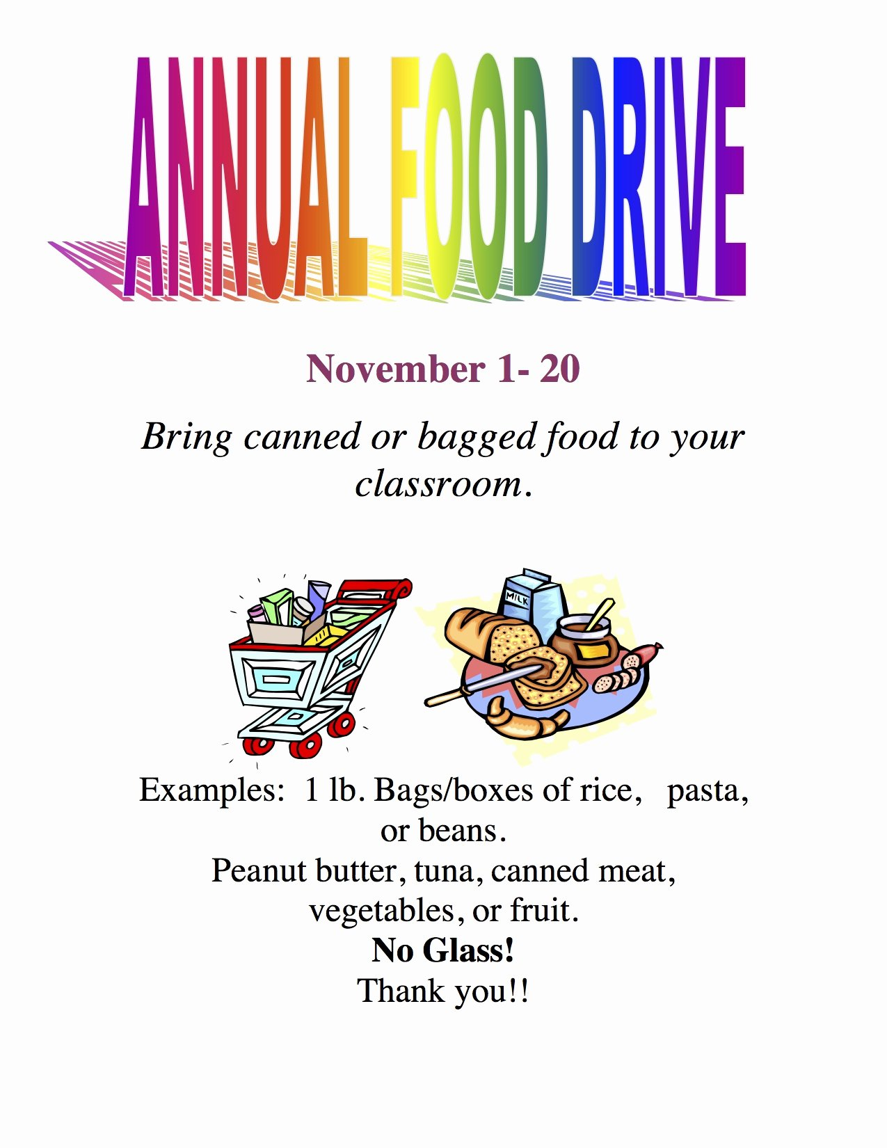 Canned Food Drive Flyer Template Fresh Current events… Camarena Elementary