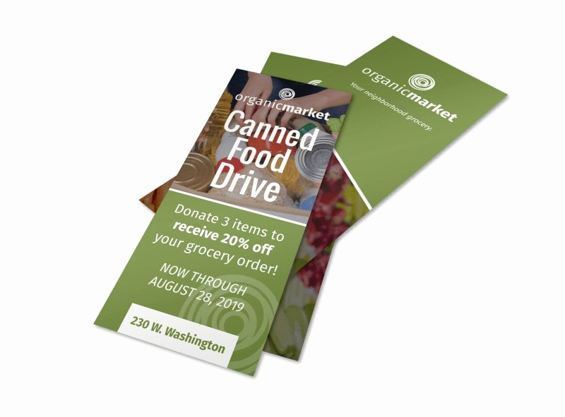 Canned Food Drive Flyer Template Luxury Canned Food Drive Flyer Template