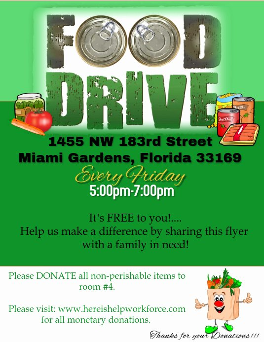 Canned Food Drive Flyer Template Unique Food Drive Flyer Template