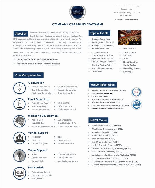Capability Statement Template Doc Beautiful Free 13 Capability Statement Examples & Samples Doc Excel Pdf