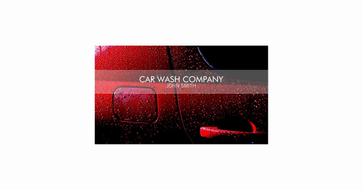 Car Detailing Business Cards Awesome Stylish Car Wash Business Card