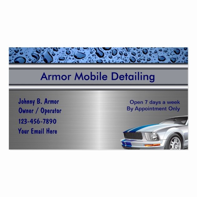 Car Detailing Business Cards Elegant Auto Detailing Business Cards