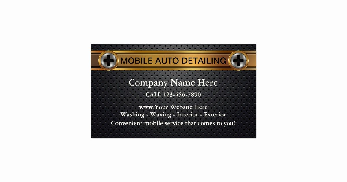 Car Detailing Business Cards Elegant Mobile Auto Detailing Business Cards