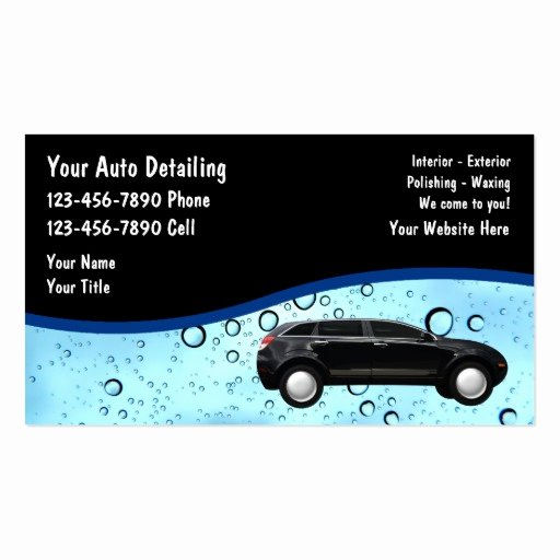 Car Detailing Business Cards Fresh Auto Detailing Business Cards