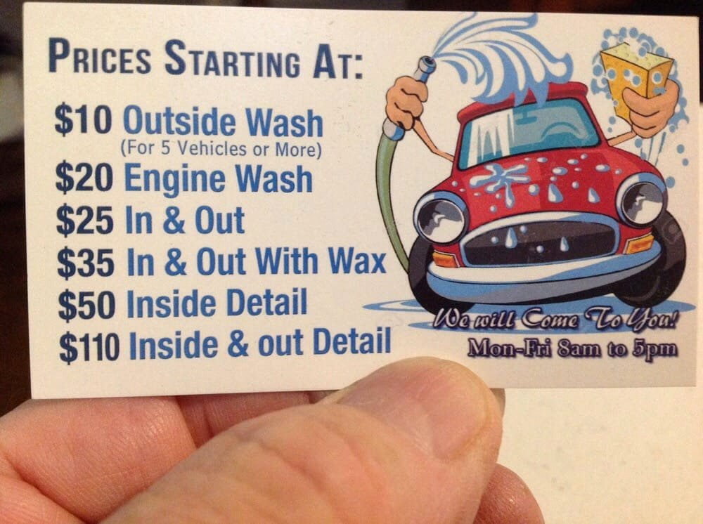 Car Detailing Business Cards Fresh Mobile Car Wash Business Cards