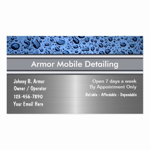 Car Detailing Business Cards Inspirational Auto Detailing Business Cards