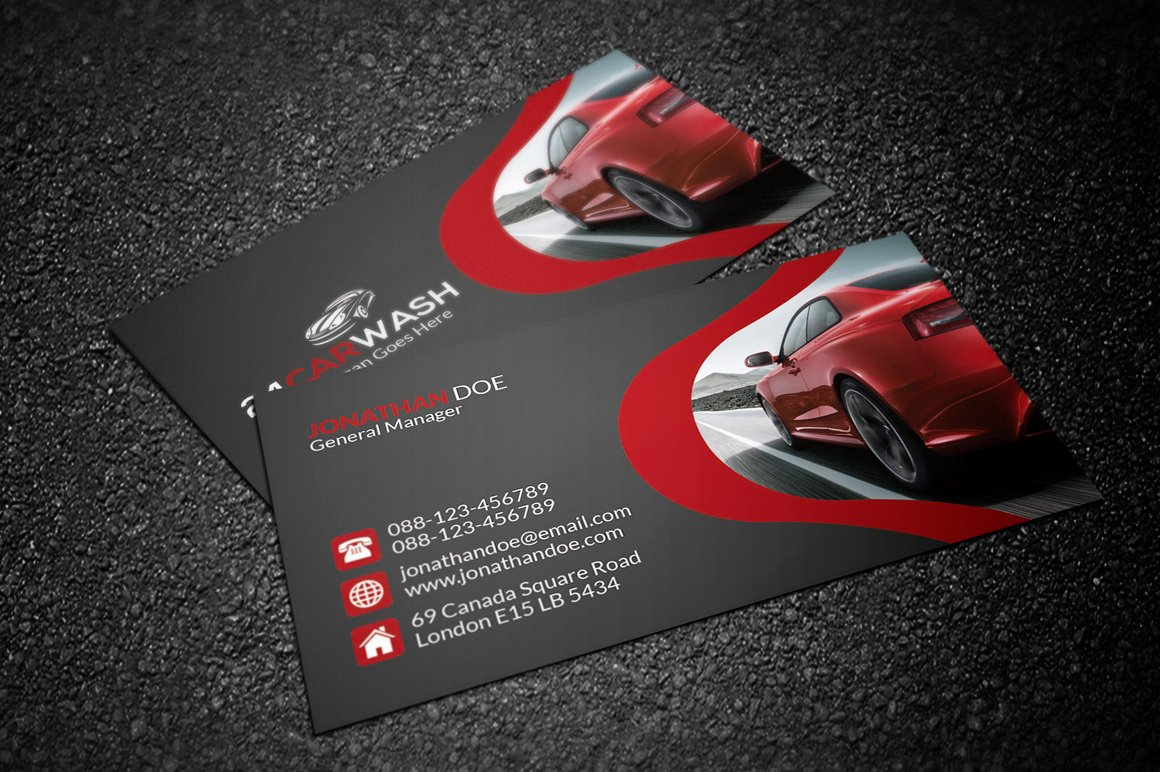Car Detailing Business Cards Luxury Car Wash Business Card Business Card Templates On Creative Market