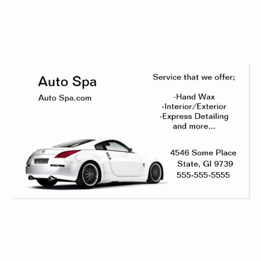 Car Detailing Business Cards Unique Detailing Shop Double Sided Standard Business Cards Pack 100