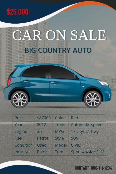 Car for Sale Template Free Beautiful Car Sale Flyer Template