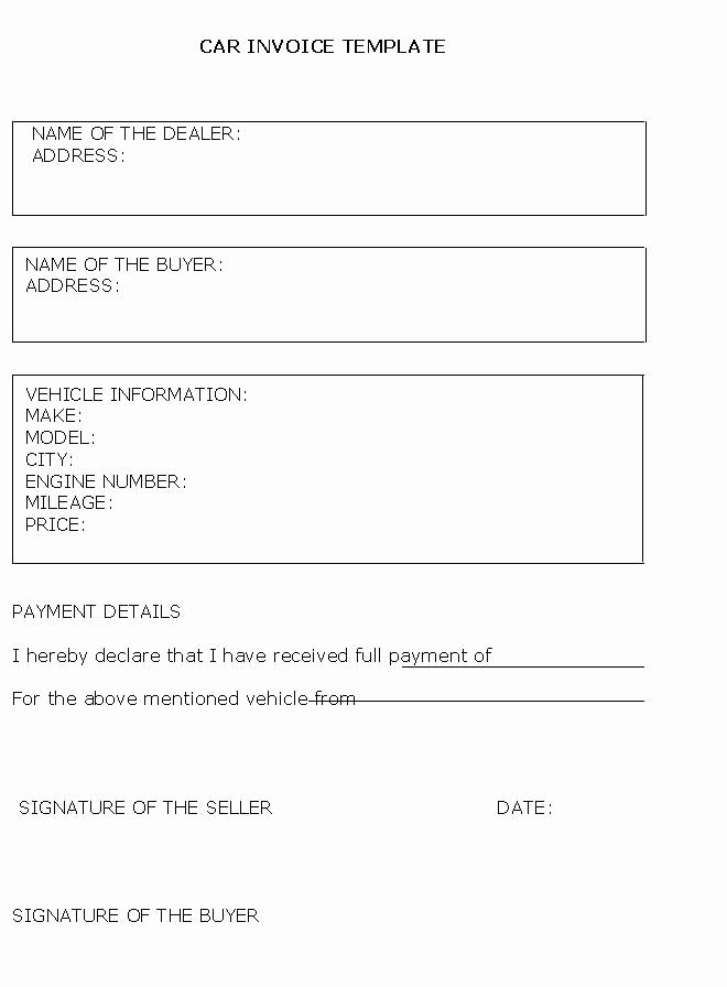 Car for Sale Template Free Best Of Car Sales Invoice Template Free Invoice