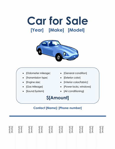 Car for Sale Template Free Elegant Flyers Fice