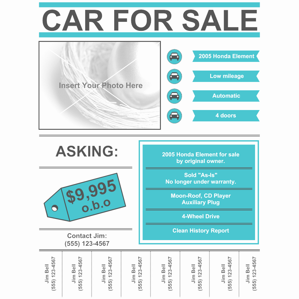 Car for Sale Template Free Luxury Car for Sale Flyer