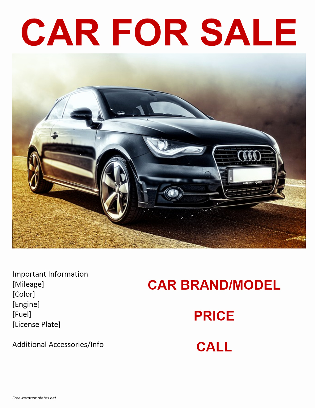 Car for Sale Template Free Luxury Car for Sale Flyer Template