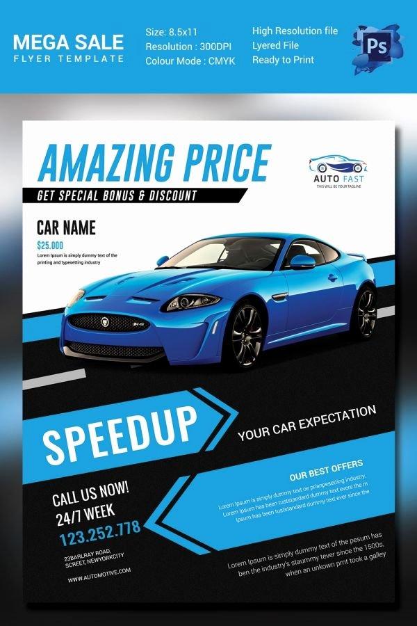 Car for Sale Template Free New Mega Car Sale Flyer Template D E S I G N Marketing