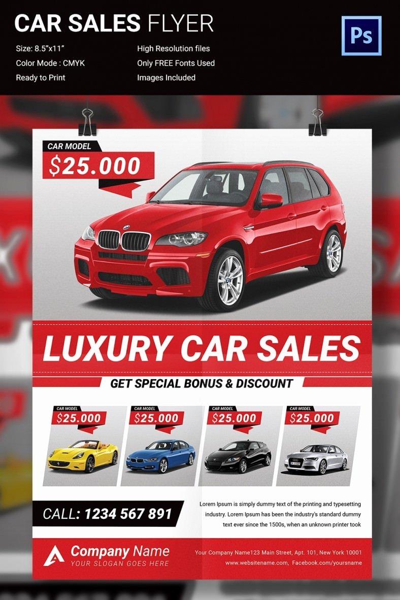 Car for Sale Template Free Unique 11 Popular Psd Promotional Flyer Templates