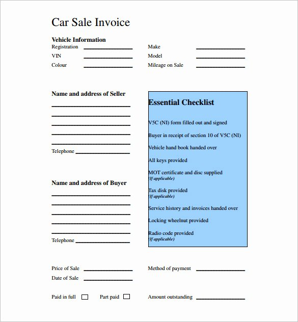 Car for Sale Template Free Unique 14 Car Sale Receipt Templates Doc Pdf