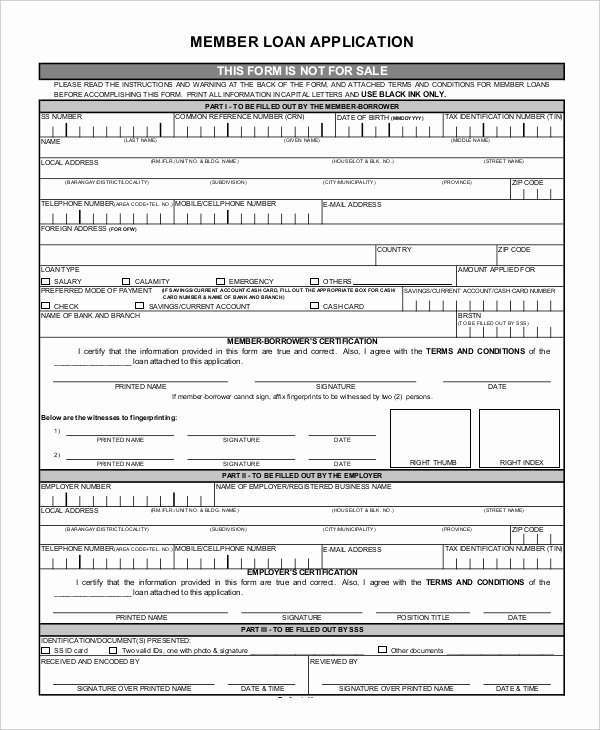 Car Loan Application form Pdf Elegant Free 11 Loan Application Examples & Samples In Pdf