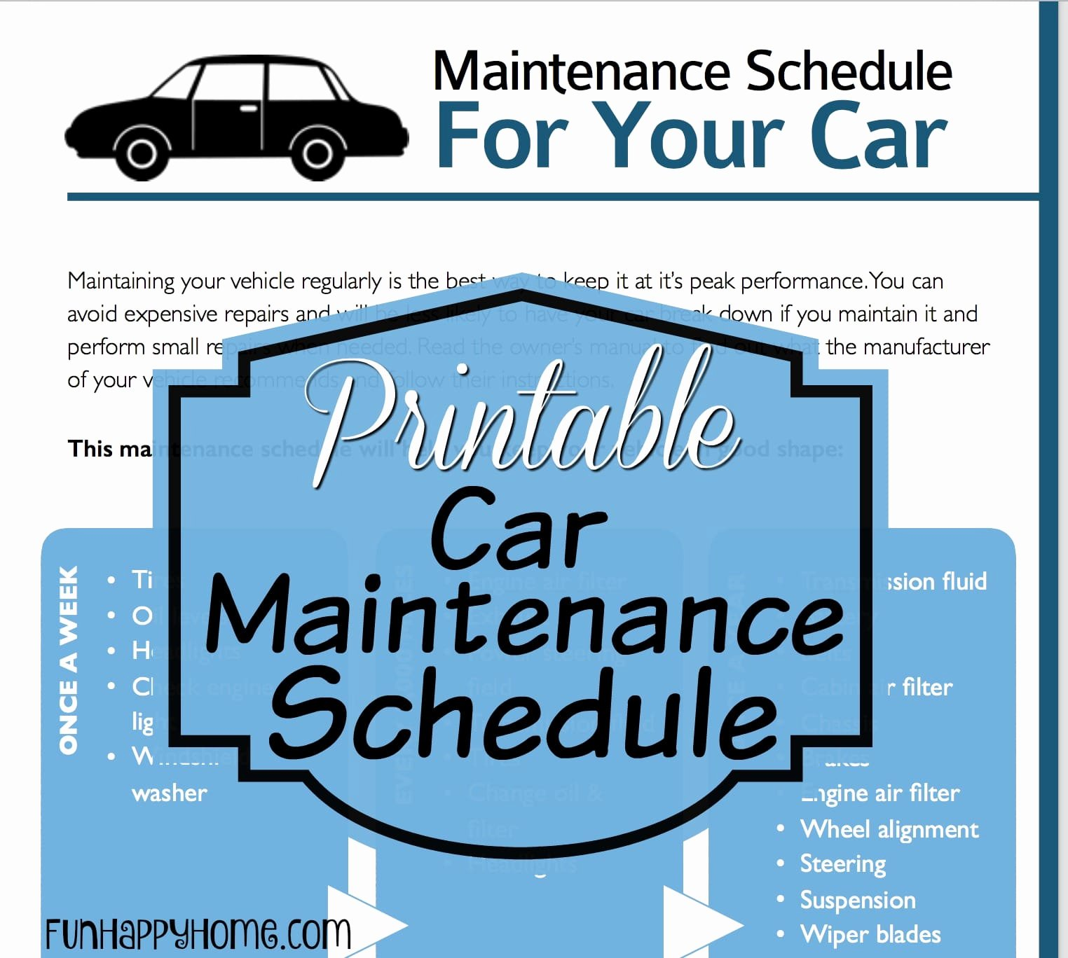 Car Maintenance Schedule Template Best Of Car Maintenance Schedules & A Printable Car Maintenance Checklist