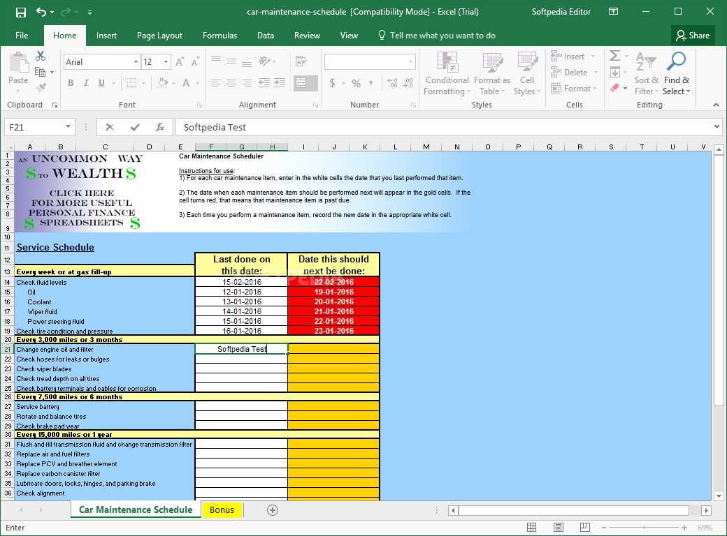 Car Maintenance Schedule Template Lovely Car Maintenance Schedule Spreadsheet – Printable Year Calendar