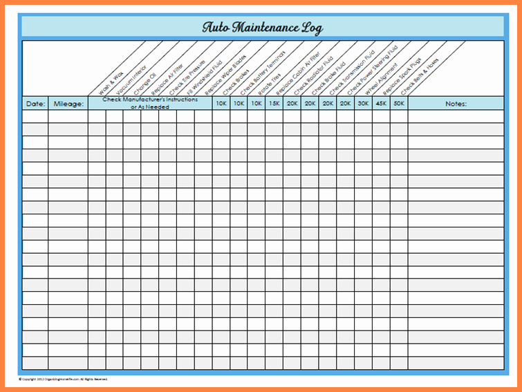 Car Maintenance Schedule Template Unique Basic Car Maintenance Schedule
