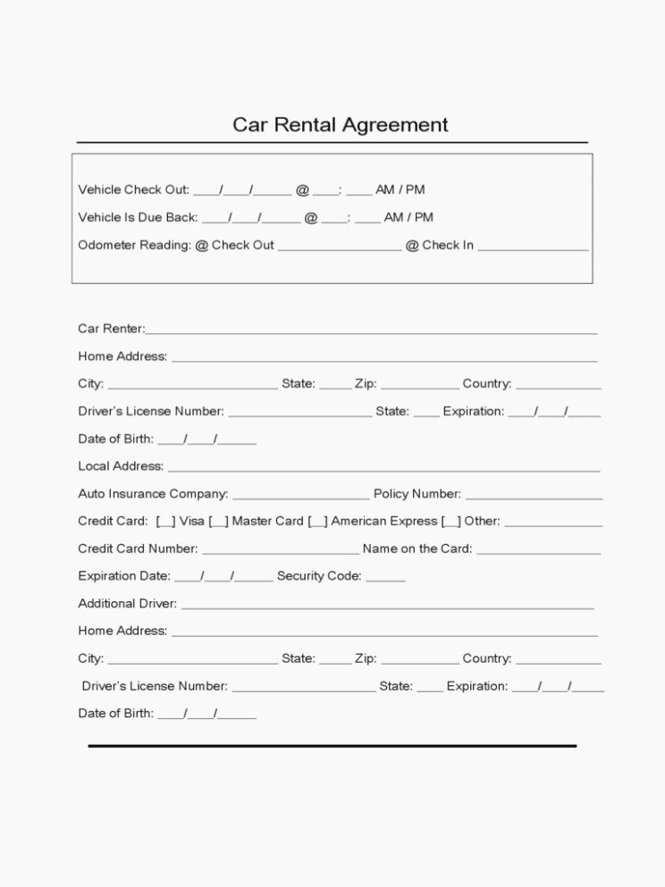 Car Rental Agreement form Awesome Learn the Truth About Car