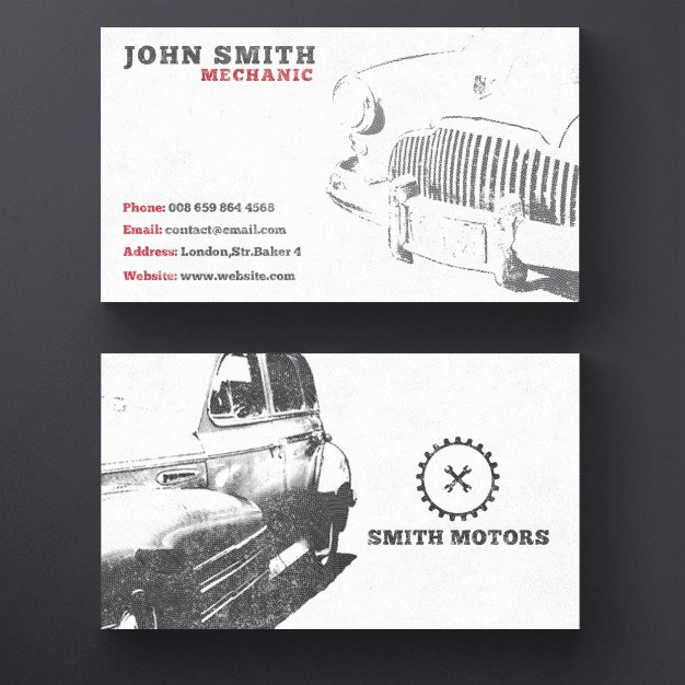 Car Service Business Cards Awesome Car Service Business Card Psd File