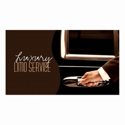 Car Service Business Cards Beautiful Limo Service Driver Cab Taxi Business Card