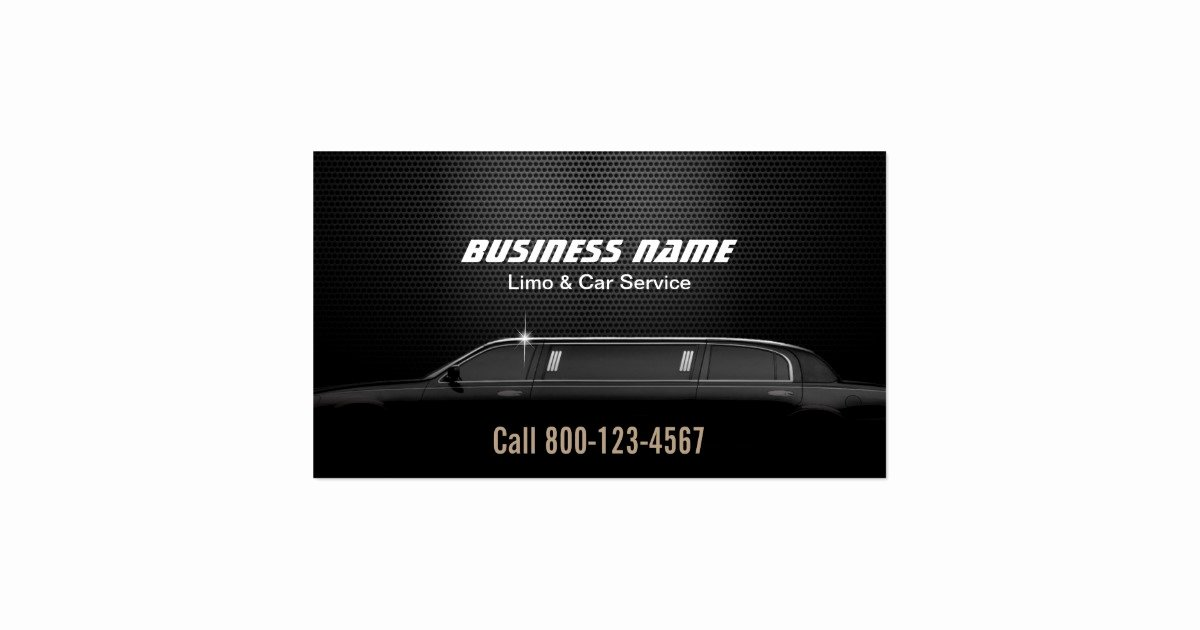 Car Service Business Cards Beautiful Luxury Metal Background Limo & Car Service Business Card