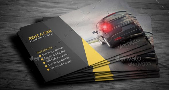 Car Service Business Cards Elegant 21 Cool Carservice Business Card Design Templates – Design Freebies