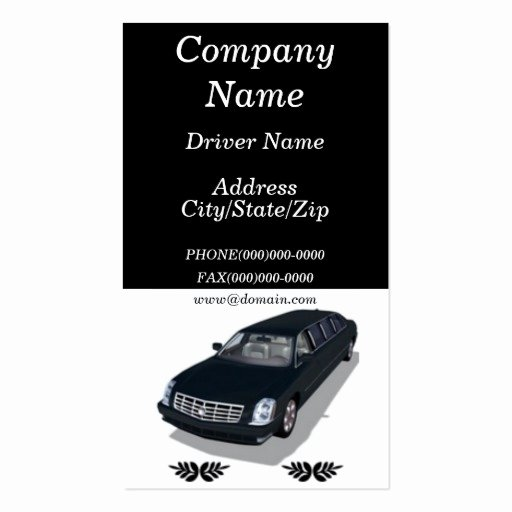 Car Service Business Cards Elegant Limousine Limo Service Business Cards