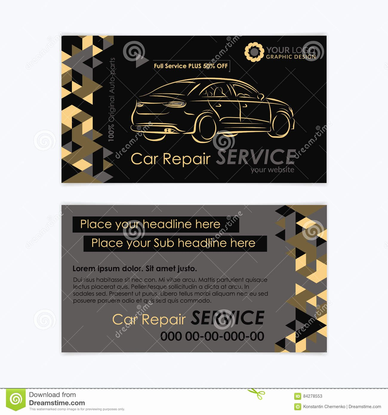 Car Service Business Cards Fresh Automotive Service Business Card Template Car Diagnostics and Transport Repair Create Your Own