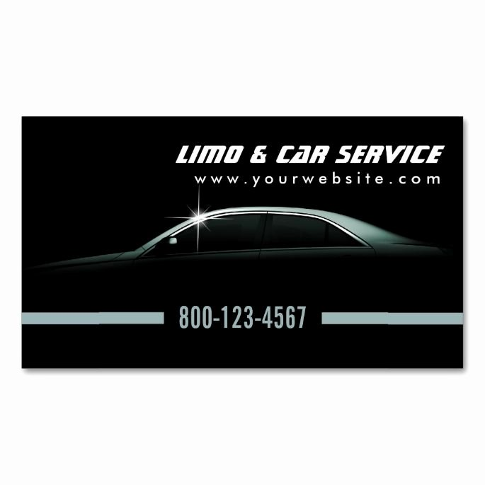 limo taxi business cards