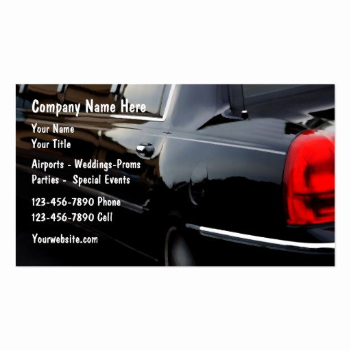 Car Service Business Cards Luxury Limousine Car Service Business Cards