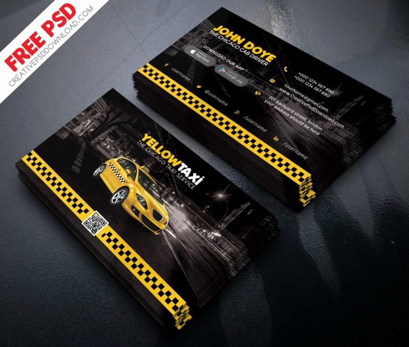 Car Service Business Cards Luxury Taxi Service Business Card Free Psd