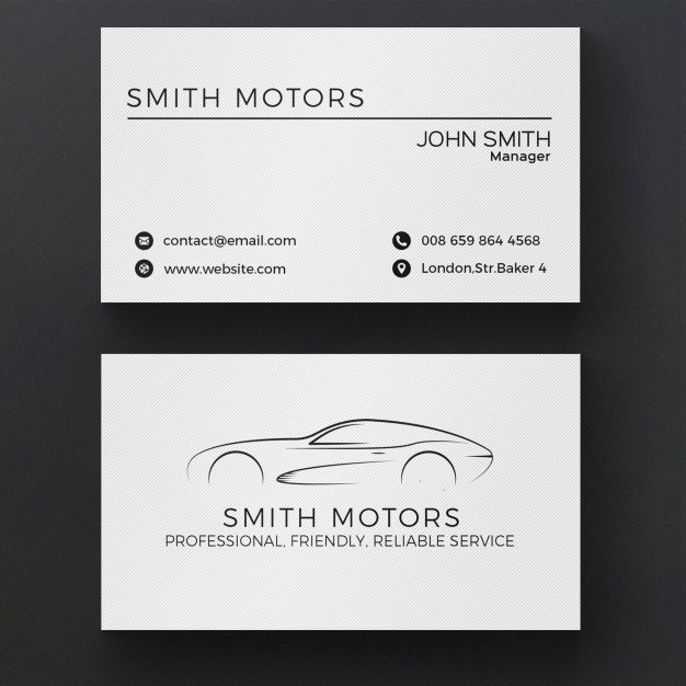 Car Service Business Cards New Car Service Business Card Psd File