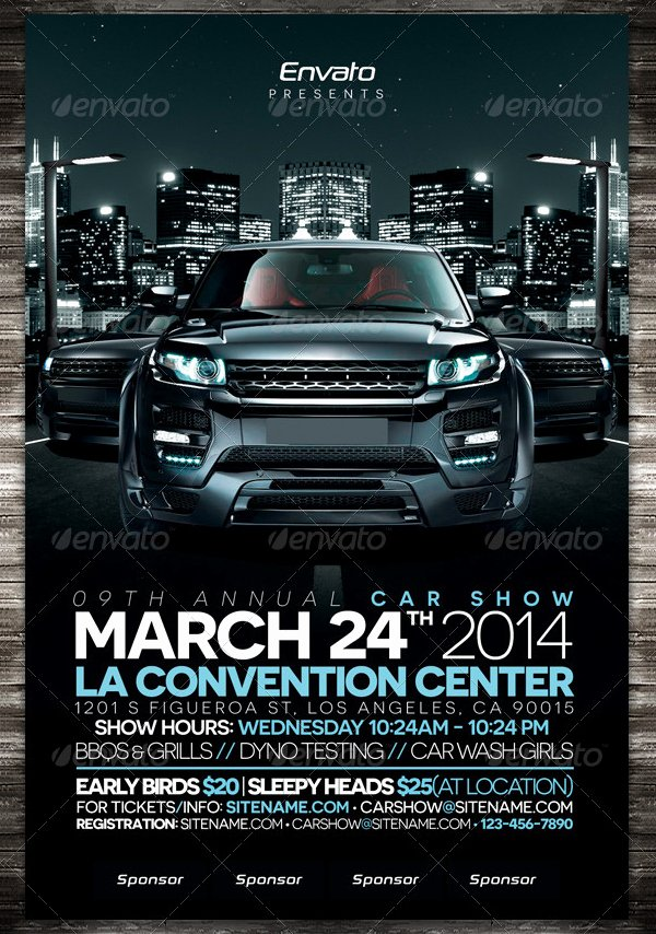 Car Show Flyer Template Awesome 19 Car Show Flyer Free & Premium Psd Ai Vector Eps Downloads
