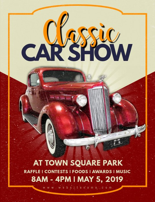 Car Show Flyer Template Beautiful Classic Car Show Flyer Template