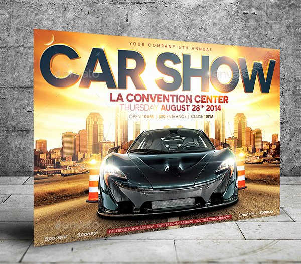 Car Show Flyer Template Elegant 19 Car Show Flyer Templates Free & Premium Download