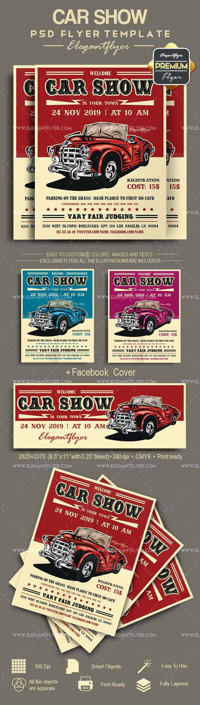 Car Show Flyer Template Elegant Classic Car Show Flyer Template – by Elegantflyer