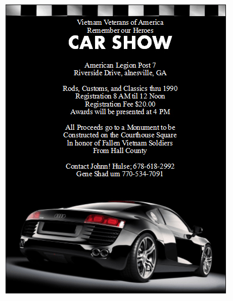 Car Show Flyer Template Free Awesome 5 Free Car Show Flyer Templates Excel Pdf formats
