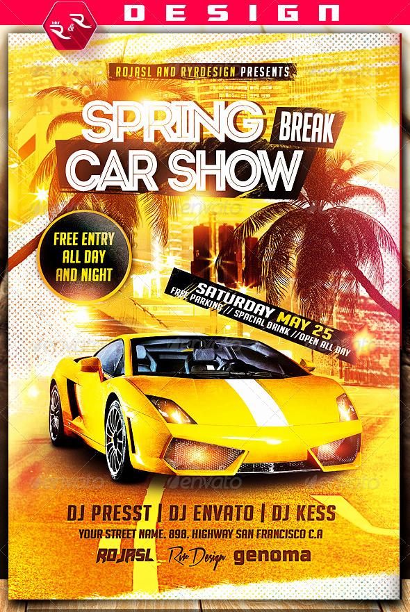 Car Show Flyer Template Free Best Of Spring Break Car Show Flyer On Behance Show