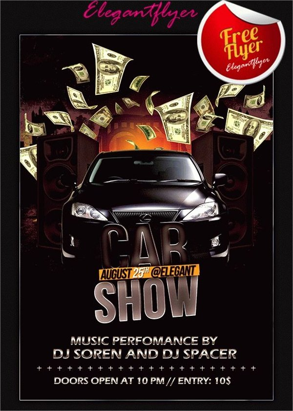 Car Show Flyer Template Free Elegant 21 Car Show Flyer Templates Psd In Design Ai