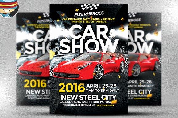 Car Show Flyer Template Free Elegant Free Editable Car Show Flyer Templates Designtube Creative Design Content
