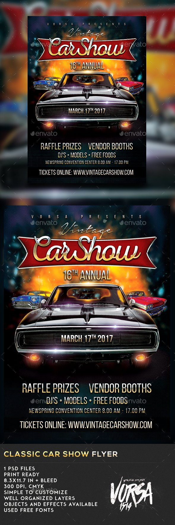 Car Show Flyer Template Free Inspirational Classic Car Show Flyer by Vorsa